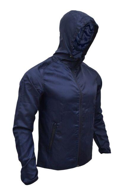 Jacket Top Men Women Coat Zip Up Hood Water Repellent Wind Breaker Jumper