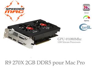  AMD R9 270X  2GB ( GPU @1080 Mhz) Mac Pro  (As 280X) Metal 4K Mojave Catalina