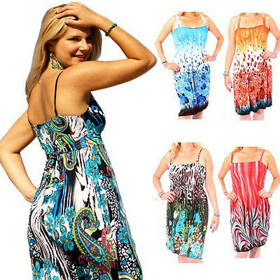 Set of 4: Assorted Print Beach Cover-Up Dresses