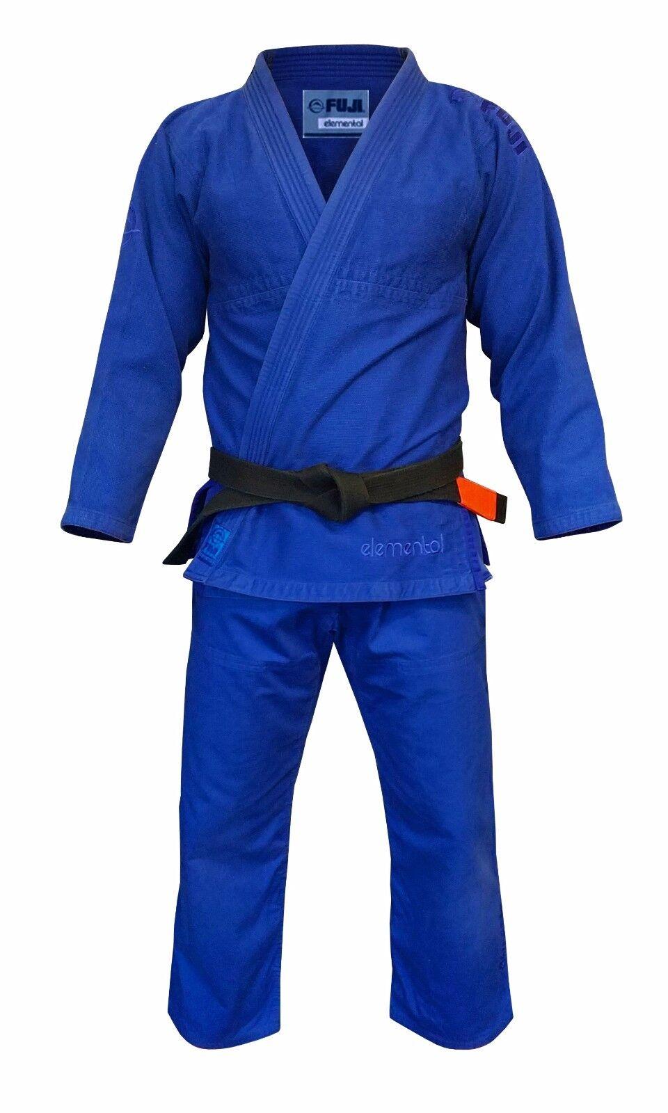 New Fuji Sports Elemental Mens Brazilian Jiu Jitsu Gi Jiu-Jitsu BJJ - blueee