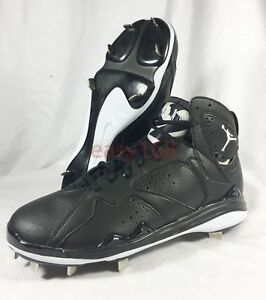 ca0c198bc48 New Nike Air Jordan 7 VII Sz 13 Mens Metal Baseball Cleats Black ...