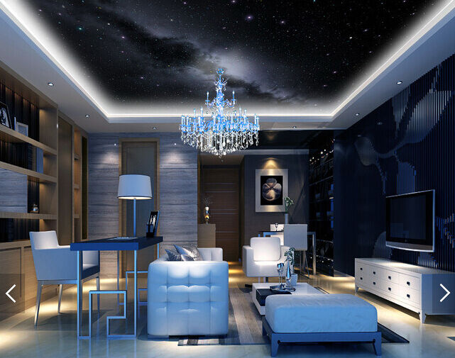3D View Night 5 Ceiling WallPaper Murals Wall Print Decal Deco AJ WALLPAPER AU