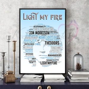 Jim-Morrison-The-Doors-Word-Art-in-Songs-Portrait-Print-Gift-Collectable