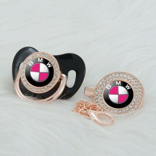 Baby Schnullerkette Marken schnuller mit kette bmw BMW  schwarz geschenkset set