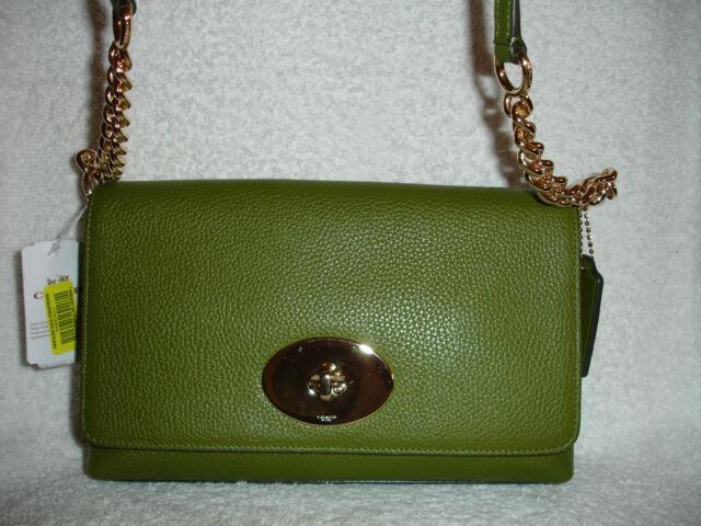 3624bb4de68f6 Coach Crosstown Crossbody Bag Pebbled Leather Moss Green 53083 for ...