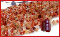 "16""L Red carnelianl Chips Gemstone Jewelry Beads 1 Strand"