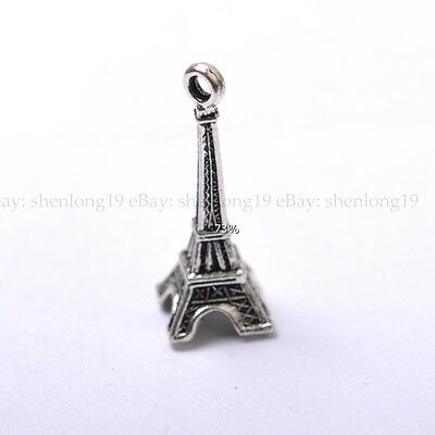 5pcs Tibetan Silver The Eiffel Tower  Charm Pendants  30X11MM SH637