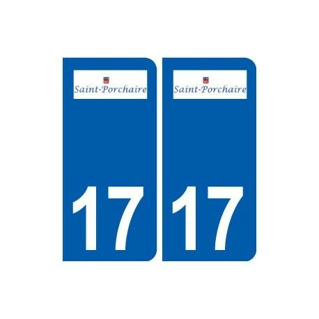 17 Saint-Porchaire logo ville autocollant plaque sticker arrondis