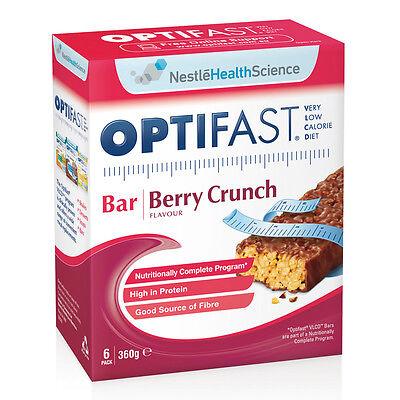 Optifast Bar Berry Crunch 60g X 6 (Best Before 31/10/2014)