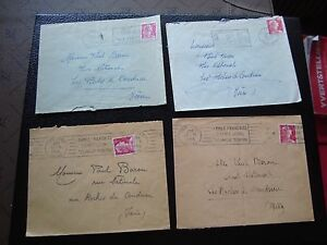 FRANCE-4-enveloppes-1955-1956-cy99-french-A