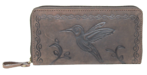 Geldboerse-Kolibri-Bueffelleder-Rustikal-Handyfach-Naturleder-Damen-Portmonai