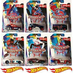 HOT-Wheels-Marvel-Spider-Man-nel-SPIDER-Verse-2018-SCALA-1-64-Die-Cast-Auto