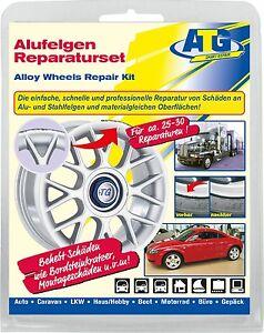 alloy wheels repair set curb damage scratch steel rims smart repair silver ebay. Black Bedroom Furniture Sets. Home Design Ideas