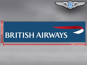 BRITISH AIRWAYS BA BLUE BACKGROUND RECTANGULAR LOGO DECAL / STICKER