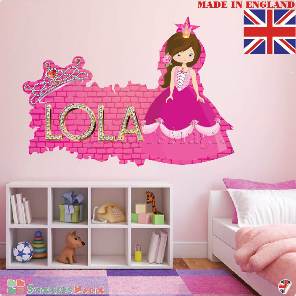 3D Leopard Skin Personalised Border Name Children Wall Stickers Transfer Decal