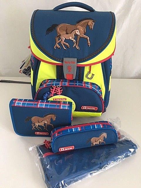 Step by Step DIN 4-teiliges Schulranzenset Comfort 138335  Horse Family  Pferd   Haltbarer Service    eine große Vielfalt    Spielen Sie auf der ganzen Welt und verhindern Sie, dass Ihre Kinder einsam sind