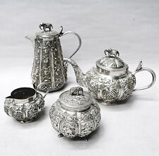 Antique Silver Tea Set Indian Circa 1900. Stock ID 8809