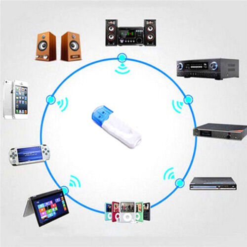 USB Bluetooth Stereo Audio Music Wireless Receiver Adapter For Car Home SpeWTUS