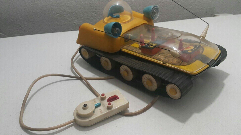 Vintage space explorer mond - rover batteriebetriebene spielzeug 70er cccp russland.