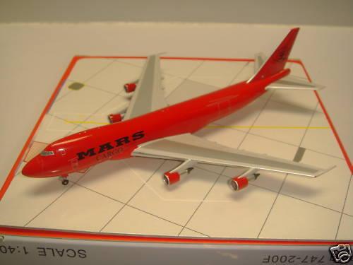 Mars Cargo B747-200F  Red color color color  1 400 07eb9b