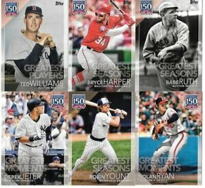 2019-Topps-Series-1-amp-2-150-Greatest-Moments-Players-Seasons-You-Pick-the-Card