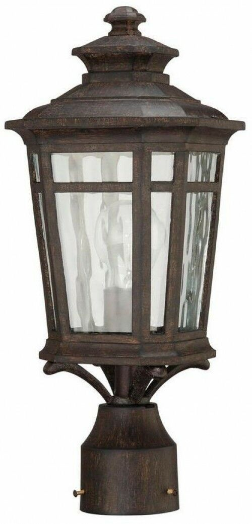 Outdoor Lantern Dark Ridge Bronze Post Mount Waterton 1-Light Classic Lighting