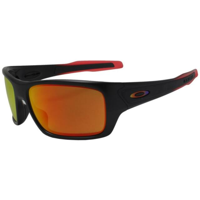 297123d9fd Oakley OO 9263-3763 TURBINE Ruby Fade Black w  Ruby Iridium Lens Mens  Sunglasses