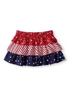 a0750e050 Walmart Brand Baby Girls Tiered Scooter Skirt Size 0-3 Months Stars ...