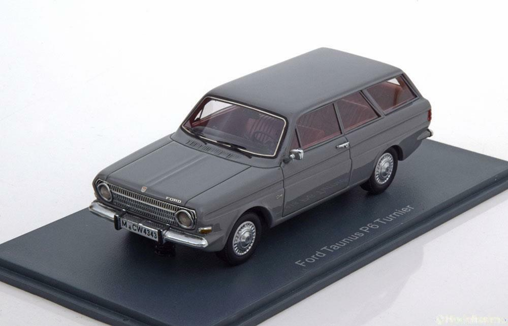 FORD TAUNUS 12M P6 TURNIER gris 1966 NEO 44343 1 43 TOURNOI BREAK grisE GRIGGIO