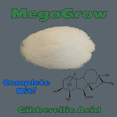 MegaGrow Gibberellic Acid - Complete Kit With Measuring Spoon and Instructions