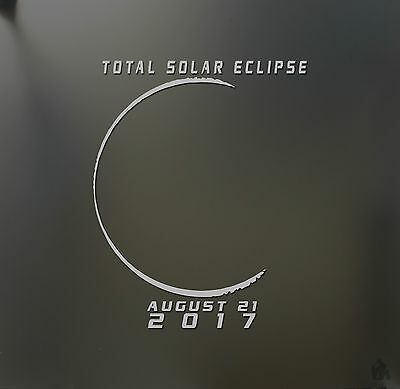 Solar eclipse total sticker august 21st 2017 nic JDM car window  decal