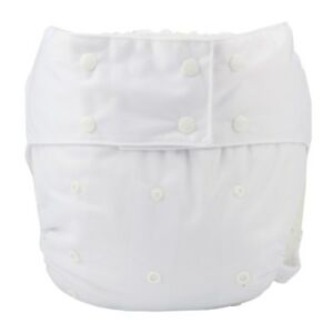 1-Adult-Cloth-Diaper-Nappy-Teen-Reusable-Washable-Incontinence-White