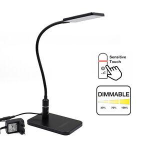 Tactile-Dimmable-Lampe-de-Bureau-LED-Noir-Flexible-Lampe-de-Chevet-Lampe-Table