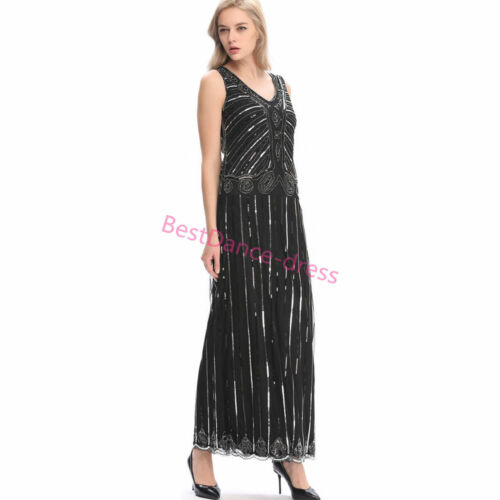 1920s Flapper Dress Gatsby 20s Roaring Charleston Fringe Party Dresses Plus Size