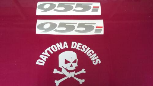 DAYTONA 955i SILVER /& RED CUSTOM FAIRING PANEL DECALS STICKERS
