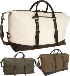 Canvas-amp-Leather-Weekender-Travel-Bag-Duffel-Fashion-3-Day-Tote-Carry-On