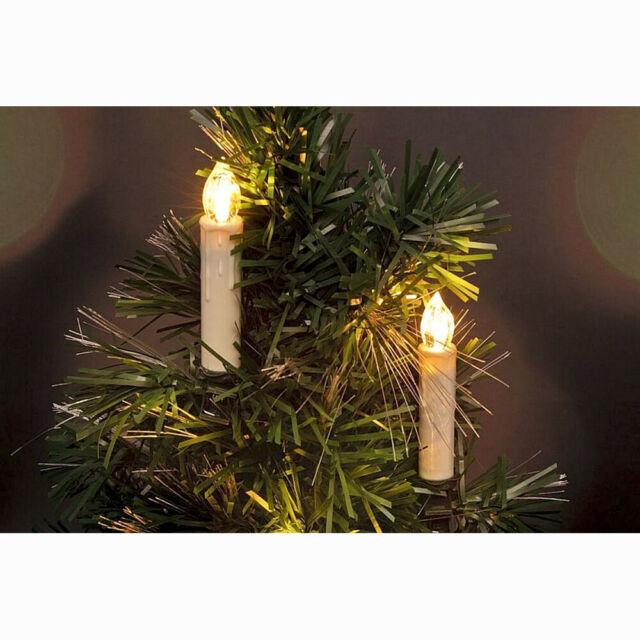 10-100X RGB LED Weihnachtskerzen Lichterkette Kabellos Weihnachtsbaumbeleuchtung