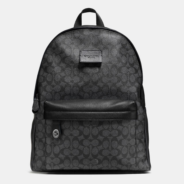 Nwt Coach Campus Signature Coated Canvas Backpack F72051 Charcoal Black
