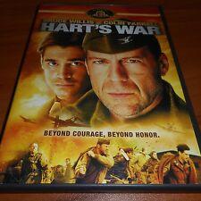 Hart's War (DVD, Widescreen 2002) Bruce Willis Collin Farrell Used Harts