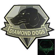 Diamond Dogs Metal Gear Solid PVC rubber 3D Glow Dark GITD touch fastener patch