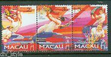Drunken Dragon Festival strip of 3 stamps mnh 1997 Macau #876a