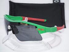 CUSTOM OAKLEY RADAR RANGE STRAIGHT STEM SUNGLASSES TEAM GREEN w/RED / GREY
