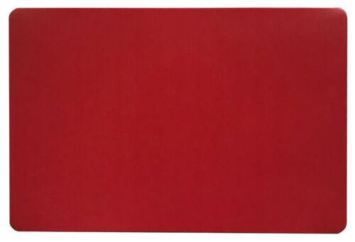 Schreibtischunterlage gross einfarbig rot 40 x 60 cm abwischbar Uni schlicht neu