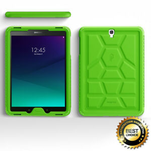For-Samsung-Galaxy-Tab-S3-9-7-Poetic-Anti-Slip-Green-Silicone-Cover-Case