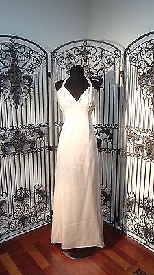 Brautjungfernkleider A154o Lazaro 3739 Sz 12 Beige Nackenband Formelles Kleid Kleid Verschiedene Stile