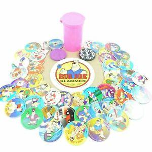 Slammers-Tazos-De-50-2-Tubo-Micro-Pog-tablero-de-juego-90s-Juego-de-Tazos-Poco-Comun-Retro-Nostalgia