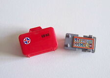 PLAYMOBIL (Y1216) HOPITAL - Valise de Secours Rouge avec Autocollant de Contenu
