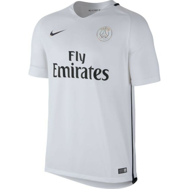 uk availability 7f295 50ec2 Nike PSG Paris Saint German Season 2016 - 2017 Third Soccer Jersey White S
