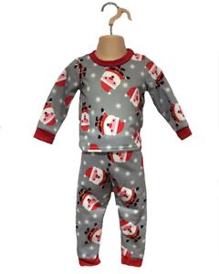 Baby Boy Girl 3-6m Santa Father Xmas Festive PJs Sleepwear Pyjamas Matching Set