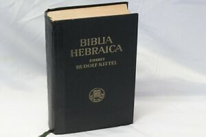 Biblia-Hebraica-Hebrew-Bible-Tanakh-Jewish-Rudolf-Kittle-1954